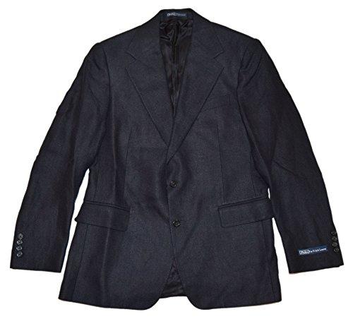 Linen Silk Coat - Polo Ralph Lauren Mens Tweed Blazer Sport Coat Jacket Linen Silk Italy Black 40R