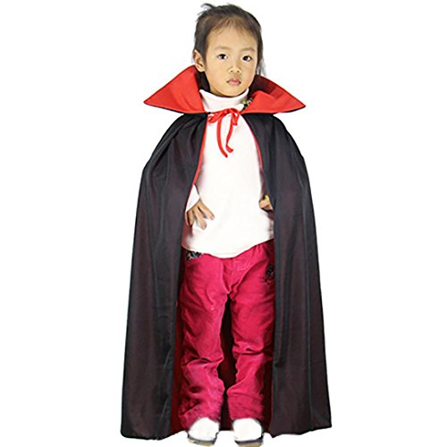 [Hooded Cloak,Neartime Kids and Adult Turtle Neck Medieval Cape Halloween Party Ghost Clothes (Kid)] (Little Kid Vampire Costume)