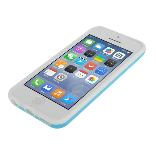 """iPhone 5C Premium Bumper in blau aus Silikon / TPU im """"2-Color-Style"""" -Original nur von THESMARTGUARD-"""