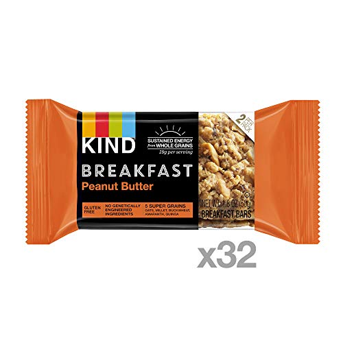 Large Product Image of KIND Breakfast Bars, Peanut Butter, Gluten Free, 1.8oz, 32 Count