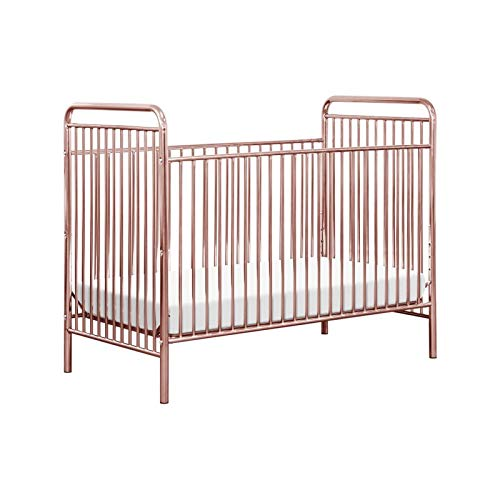 Babyletto Jubilee 3-in-1 Convertible Metal Crib, Pink Chrome