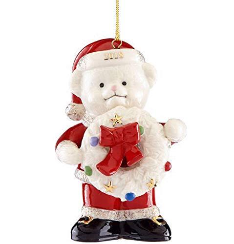 Lenox 2018 Teddy Bear Santa Ornament