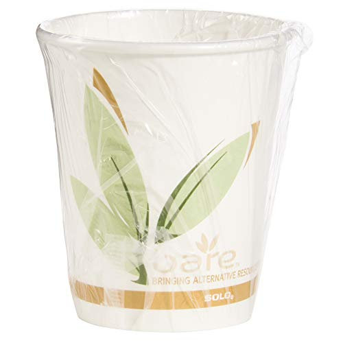 Solo W370RC-J8484 Indiv Wrapped -10 oz Bare PCF Paper Hot Cup (Case of 480)