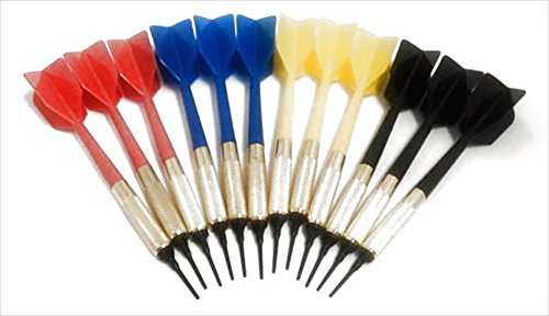 GLD Commercial Soft Tip Bar Darts-Set of 12 with 250 Dart Tips