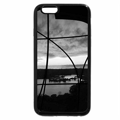 iPhone 6S Case, iPhone 6 Case (Black & White) - View of Lake from the Patio