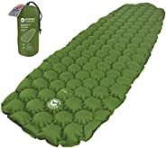 ECOTEK Outdoors Insulated Hybern8 4 Season Ultralight Inflatable Sleeping Pad with Contoured FlexCell Design -