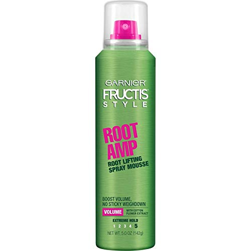 - Garnier Fructis Root Amp Root Lifting Spray Mousse, 5 oz