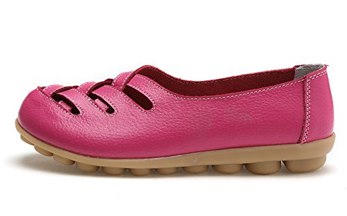 Hotpink Casual Loafer Comfort Women's Flat Walking Fushia VenusCelia CwqRft0B