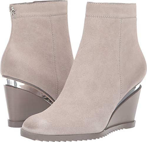 Donna Karan Women's Dallas - Wedge Bootie Light Grey 8 M US