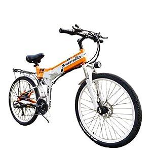 414j41jgilL. SS300 XXCY 500w / 350w Bici elettrica da Montagna Mens ebike Bicicletta Pieghevole MTB Shimano 21 velocità