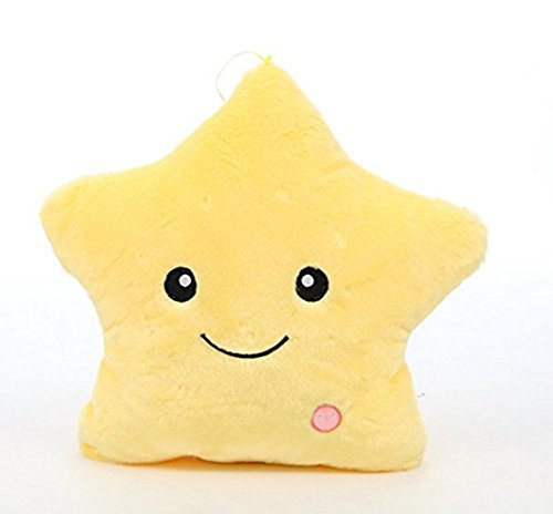 KUKI SHOP Glowing Colorful Luminous LED Twinkle Star Plush Pillow Stuffed Toys ()