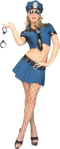 [Secret Wishes Women's House Arrest Adult Costume, Multicolor, Medium] (Costumes For Women Cop)