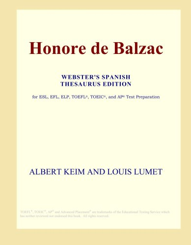 Honore de Balzac (Webster's Spanish Thesaurus Edition)