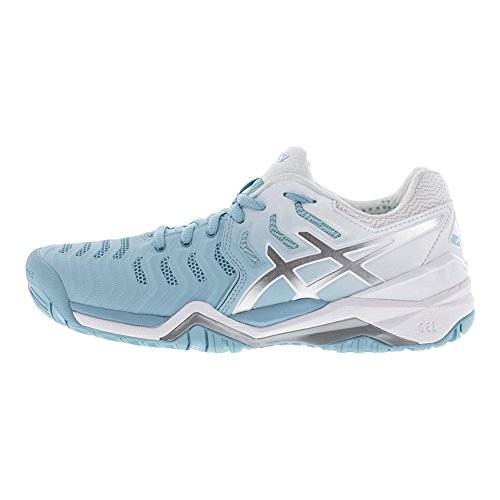Resolution Shoe ASICS Tennis 7 Womens Gel Silver Porcelain Blue White EOEnHqf4w