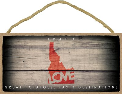 - SJT ENTERPRISES, INC. Idaho - State Outline with Love and State Motto 5