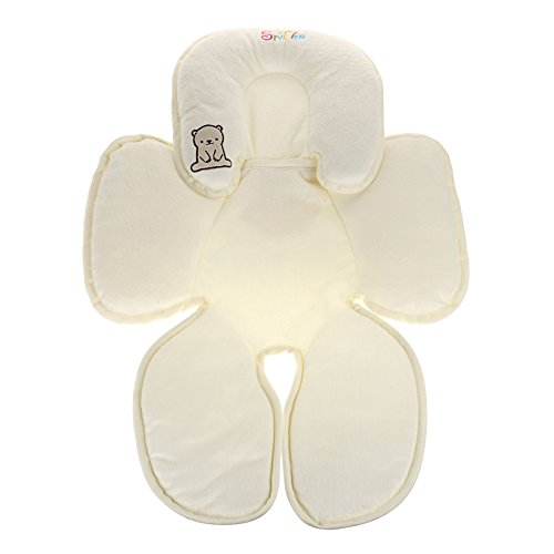Head and Body Support Pillow for Car Seats and Strollers Removable Pillow Inserts Adjustable Cushion Pillow for Infant To Toddler (Support Infant Body Pillow)