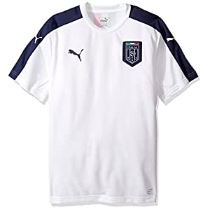 PUMA Men's FIGC Italia Stadium Jersey, White, Medium