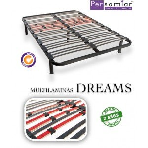 Persomiar SOMIER MULTILAMINAS DREAMS - Patas Madera (18€), 150X180: Amazon.es: Hogar