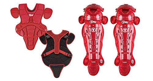 TAG 704 Pro Series II Youth Catchers Set with Body Protector and Leg Guards, Scarlet ()