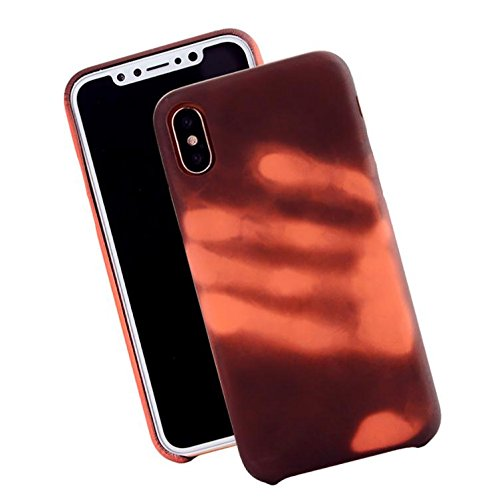 Ikevan TPU Changes Color Case Cover For Iphone X Ultra-Thin Protecte (Brown) ()