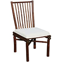 Zew CH-224-06 Bamboo Dining Chair, Medium, Espresso