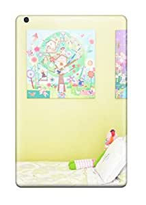 Ipad Mini/mini 2 Case Bumper Tpu Skin Cover For Girls Room With White Bedding And Green Pillow Accessories