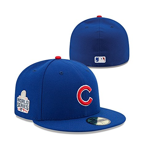 Chicago Cubs New Era 2016 National League Champions World Series Patch 59FIFTY Fitted Hat - Royal (7)