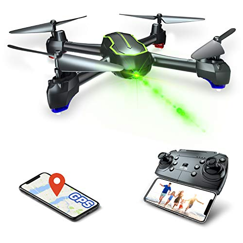 Asbww GPS Drone with HD 1080p Camera for Beginners and Adults, FPV Drones RC Quadcopter with GPS Auto Return / 32…