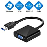 USB to VGA Adapter,USB 3.0 to VGA Adapter Multi-Display Video Converter- PC Laptop Windows 7/8/8.1/10,Desktop, Laptop, PC, Monitor, Projector, HDTV, Chromebook