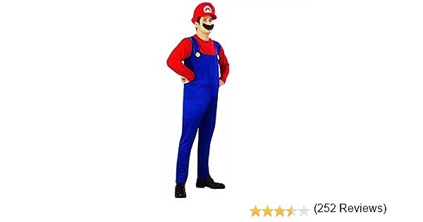 thematys® Super Mario Luigi Gorra + pantalón + Barba - Traje ...