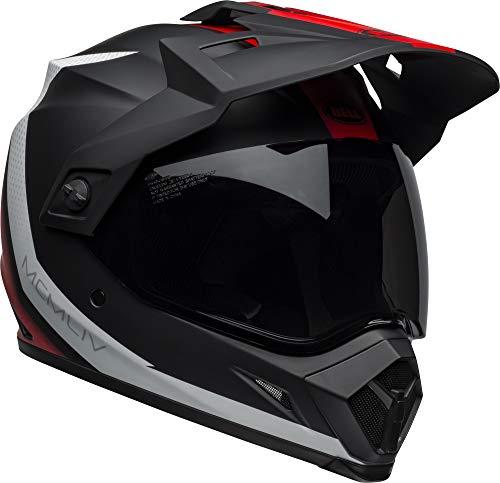 (Bell MX-9 Adventure MIPS Full-Face Motorcycle Helmet (Switchback Matte Black/Red/White, Large))