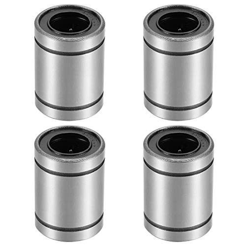 uxcell LM13UU Linear Ball Bearings, 13mm Bore Dia, 23mm OD, 32mm Length (Pack of 4) ()