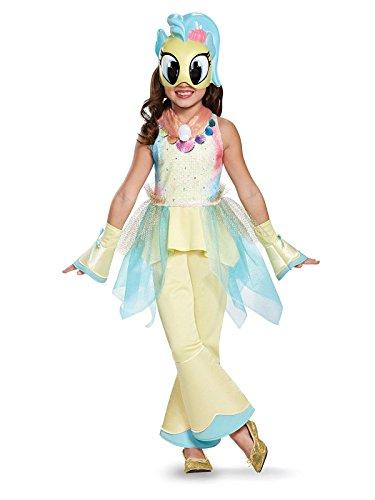 (Princess Skystar Movie Deluxe Costume, Yellow, Medium)