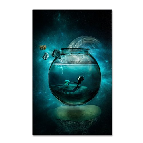 - Two Lost Souls Artwork by Erik Brede, 12 by 19-Inch Canvas Wall Art