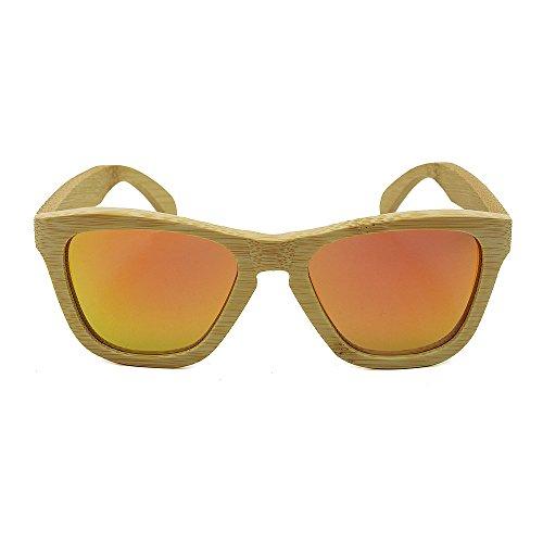 Style Soleil Hommes Peggy Protection Rétro De Shades pour Gu Femmes À Orange Lunettes en Rimmed Vert Colorée Main Lentille UV400 Protection Couleur Simple des Fashion La Bambou Yeux RqwwtBc6Ar