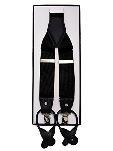 Y-Style Button and Clip Convertible Suspenders - stylishcombatboots.com