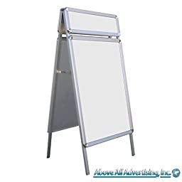Portable A-Frame Advertising Display Stand with Extra Header