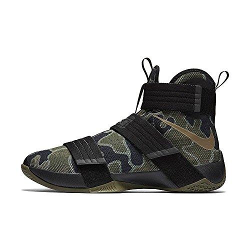 Nike Lebron Soldat 10 Herren Basketball Schuhe Schwarz / Mitteloliv / Bambus