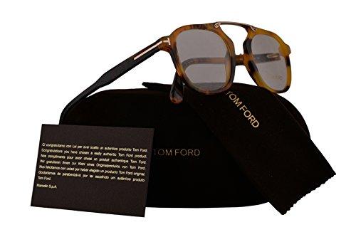 Tom Ford FT5495 Eyeglasses 48-21-145 Havana w/Demo Clear Lens 055 TF5495 FT 5495 TF - Sale Frames Tom Glasses Ford