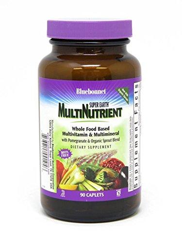 Bluebonnet Super Earth Single Daily Multi-Nutrient Formula Iron Free Caplets, 90 Count