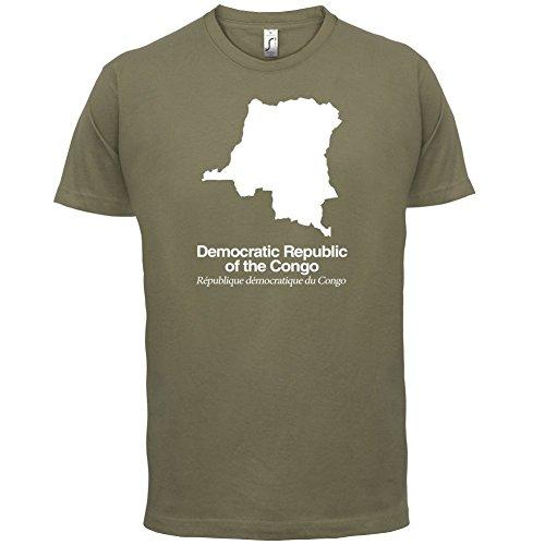 Democratic Republic of the Congo / Demokratische Republik Kongo Silhouette - Herren T-Shirt - Khaki - XS