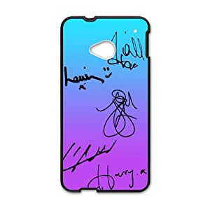one direction signatures Phone high quality Case for HTC One M7