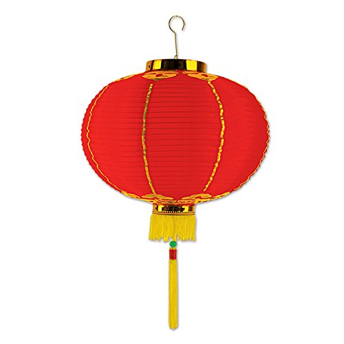 (Beistle 50678-12 Good Luck Lantern with Tassel, 12