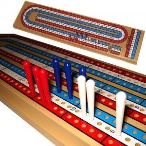 Las Vegas Style 3-player Cribbage Board Game