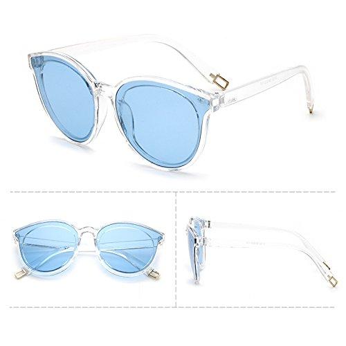 lunettes de soleil les pop stars lunettes nouveau cycle des lunettes de soleil mesdames élégant visage rond korean les yeuxtransparent de thé (tissu) BvFcCIAe4