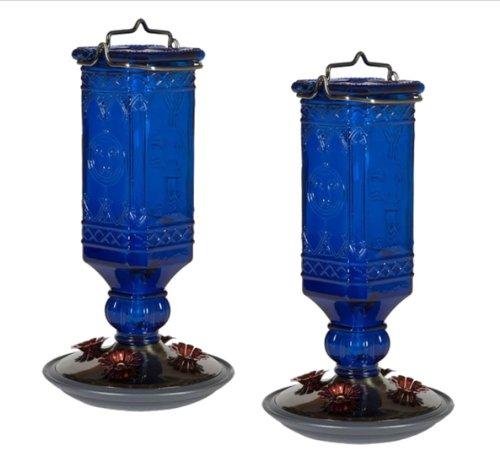 Perky-Pet 8117-2 Cobalt Blue Antique Bottle Hummingbird Feed