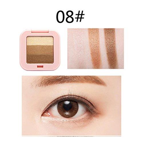 Franterd 3 Colors Mixed Pearlescent Matte Eyeshadow - Eye Shadow Cosmetic Powder - Eyeshadow Makeup Neutral Nudes Warm Eyeshadow Palette Flexibility Lasting (H)