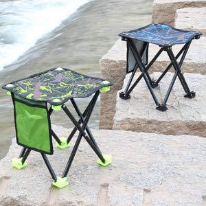 Taburete Plegable al Aire Libre de Aluminio Ligero Port/áTil para Pesca Camping Camuflaje Verde Taburete Plegable Camping Senderismo Viaje Caza Picnic