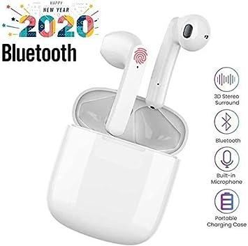 Auriculares inalámbricos Bluetooth,Estéreo In-Ear, Conveniente Estuche de carg Wireless Earbuds Deportivos Headsets con Micrófono Reducción de Ruido Cascos para iOS Android AirP Samsung