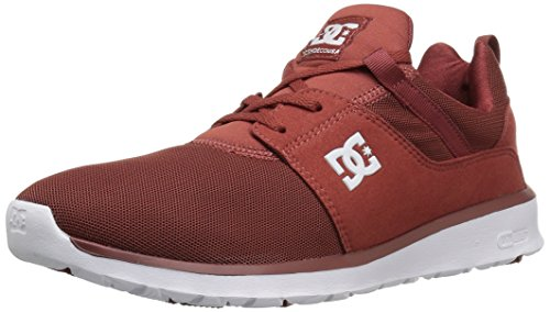 Dc Mens Heathrow Toevallige Skate Schoen Verbrand Henna / Wit